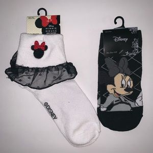 NWT DISNEY MINNIE MOUSE (set of two) socks